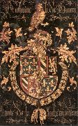 COUSTENS, Pieter Coat-of-Arms of Anthony of Burgundy df oil